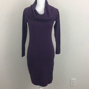 Ann Taylor Purple cowl neck sweater dress size XS